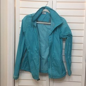Medium turquoise women's Columbia rain jacket